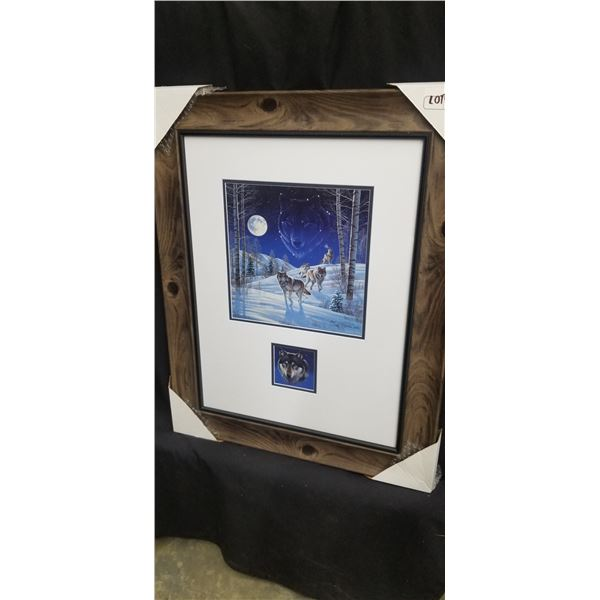 """LIMITED EDITION WOLF PRINT BY CYNTHIE FISHER 23.5""""W X 29""""H 995/5000"""