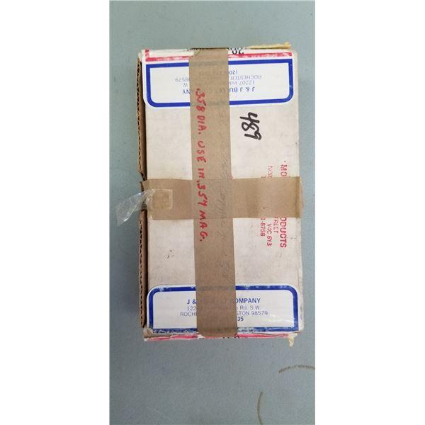 BOX OF 250 MONARCH COPPER PLATED 358 DI (357) 160 GRAIN
