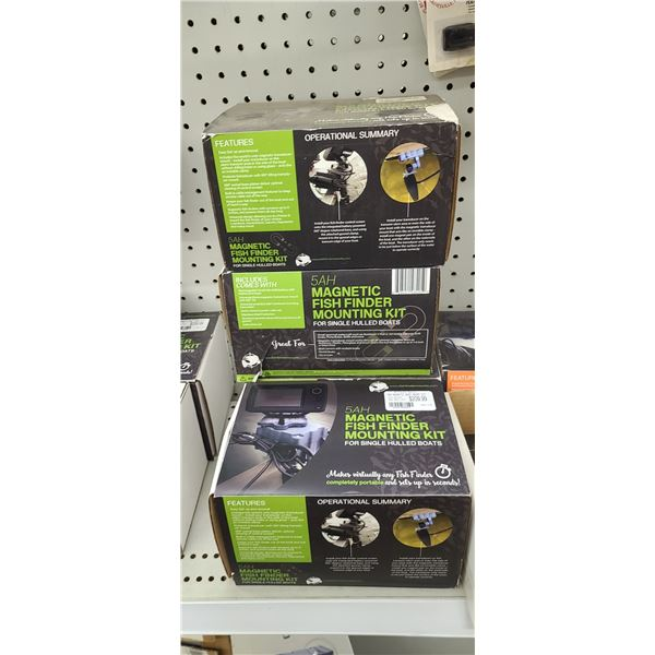 5AH MAGNETIC FISH FINDER MOUNTING KIT QTY X 4 RETAIL VALUE $840