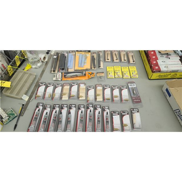LARGE LOT OF TC LUBE, BREECH PLUG WRENCHES, EXTRACTR TIPS AND JAGS RETAIL VALUE $296