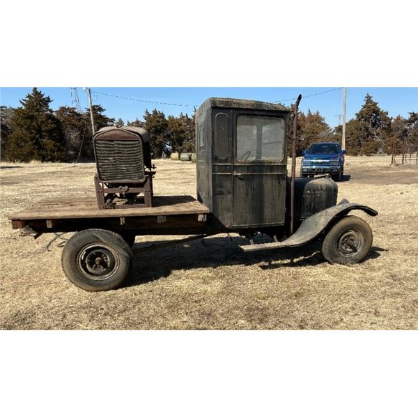 1921 Ford 1T ASVE Truck with flatbed.