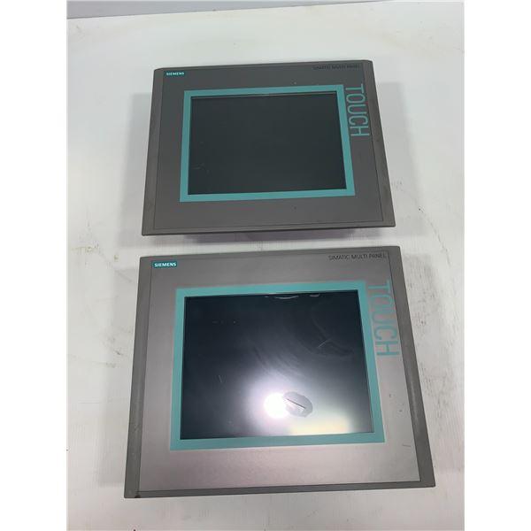 """(2) Siemens 6AV6 643-0CD01-1AX1 MP277 10"""" Touch"""