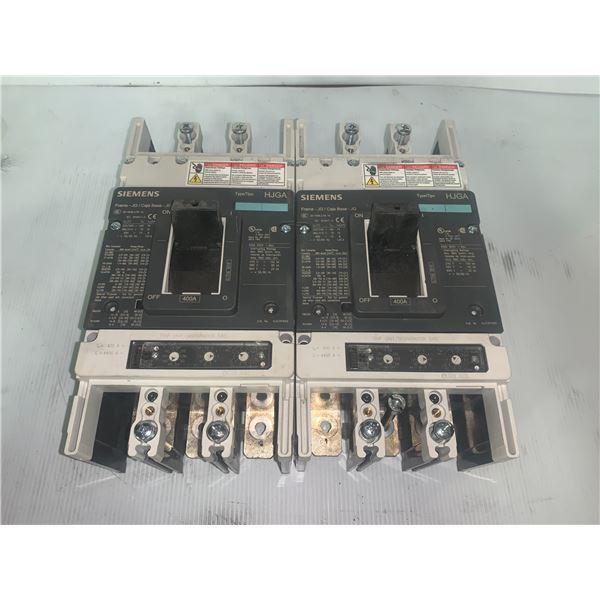 (2) - Siemens HJX3P400 Circuit Breakers Type: HJGA 400 Amp
