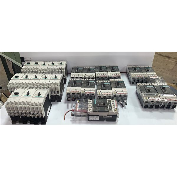 LOT OF SIEMENS CIRCUIT BREAKERS/ CONTACTORS (SEE PICS FOR PART NUMBERS)