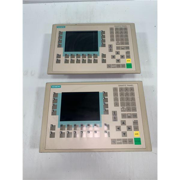(2) Siemens 1P 6AV6 542-0CA10-0AX0 Panel OP270