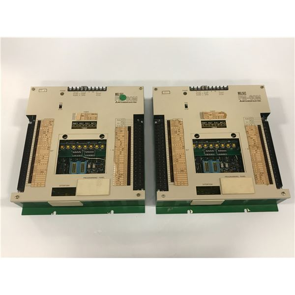 LOT OF (2) MITSUBISHI MELSEC PM-60MT CONTROLLER
