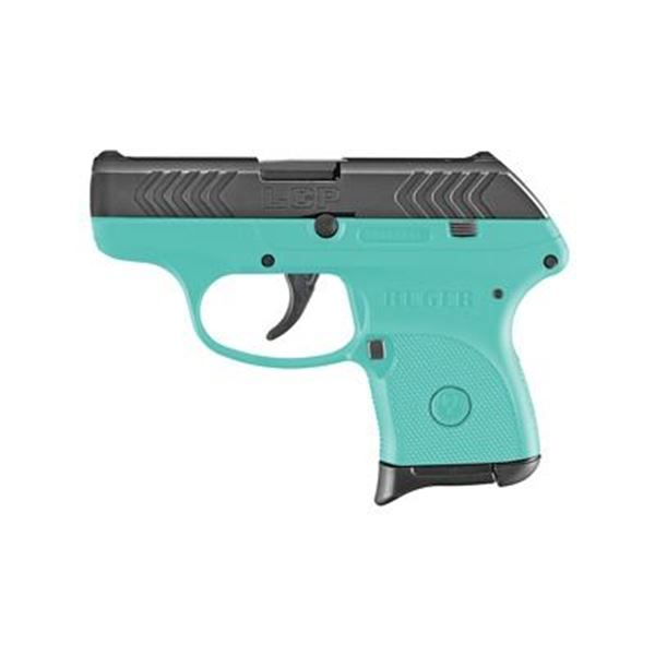 """RUGER LCP 380ACP 2.75"""" TURQ/BLK 6RD"""