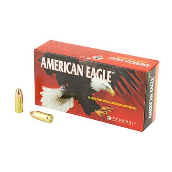 FED AM EAGLE 9MM 115GR FMJ - 50 Rds