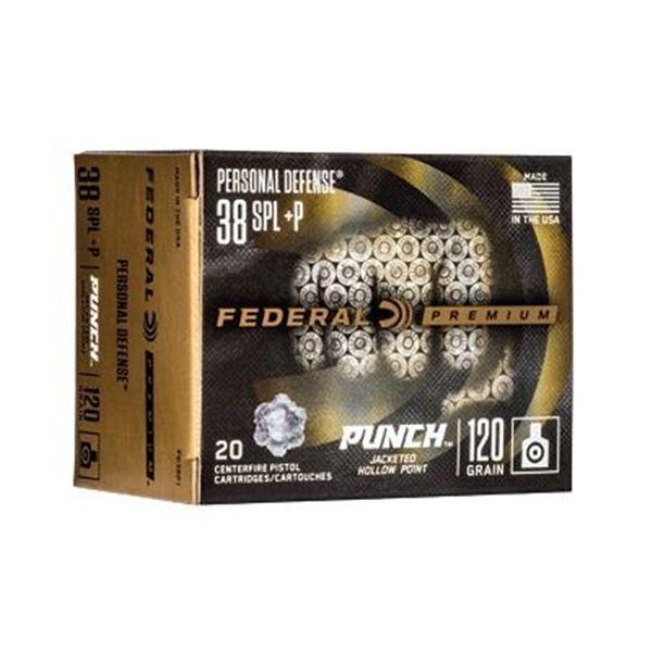 FED PUNCH 38 SPL 120GR JHP - 20 RDS