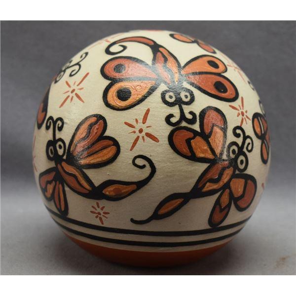SANTO DOMINGO INDIAN POTTERY SEED JAR ( ROSE PACHECO)