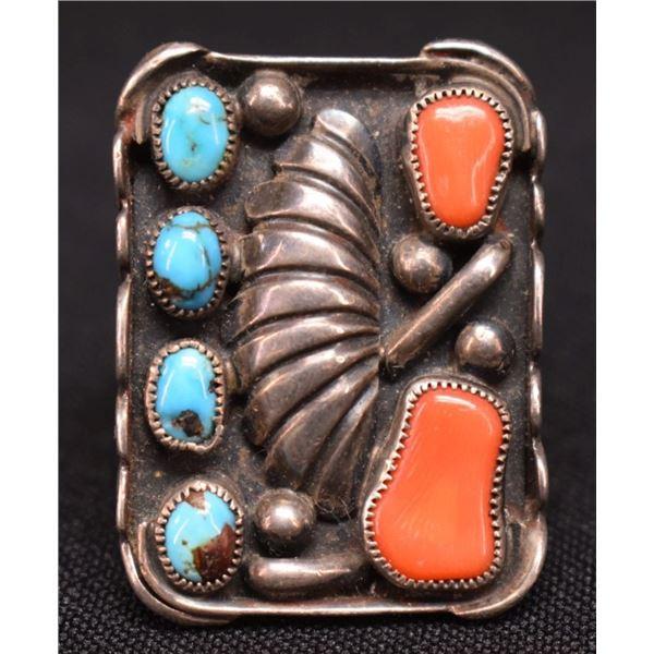 NAVAJO INDIAN RING (TIM KEE WHITMAN)