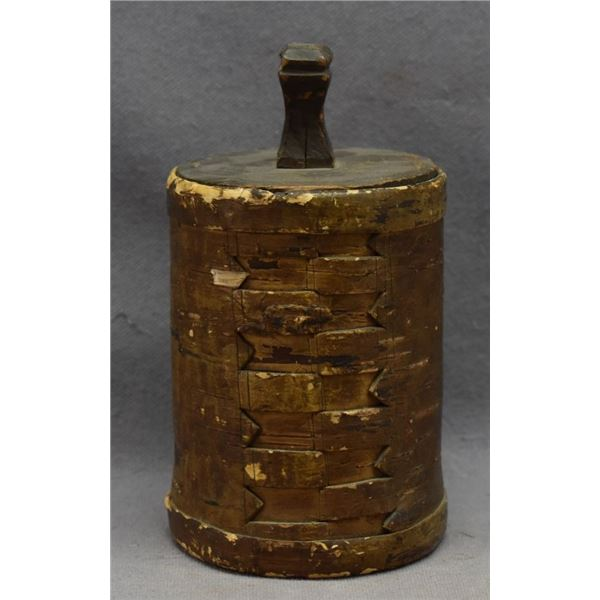 WOODLANDS INDIAN BURCH BARK CONTAINER