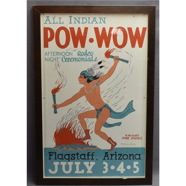 ALL INDIAN POW -WOW RODEO POSTER