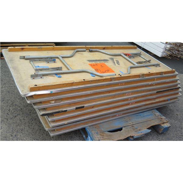 Qty 8 Wood Banquet Tables 6' Length