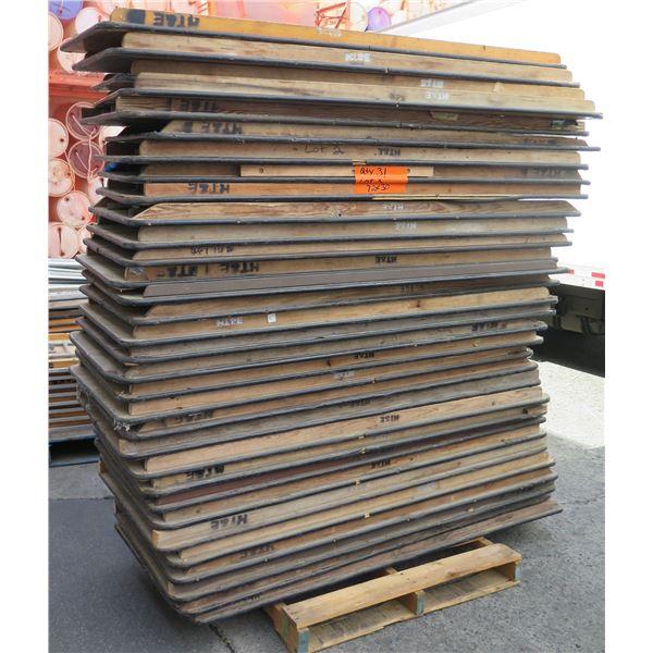 Qty 31 Wood Banquet Tables 6' Length