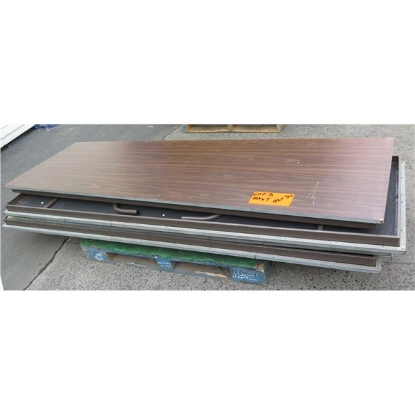 Qty 4 Wood Banquet Tables 8' Length
