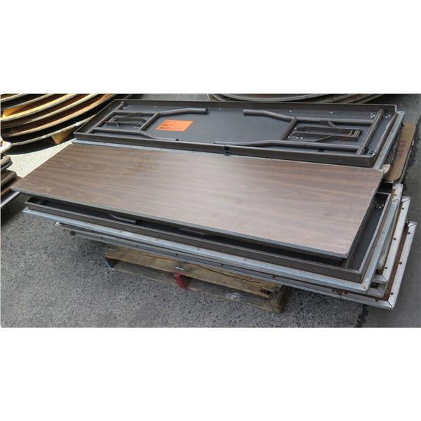 Qty 11 Metal Leg Table 6' Length