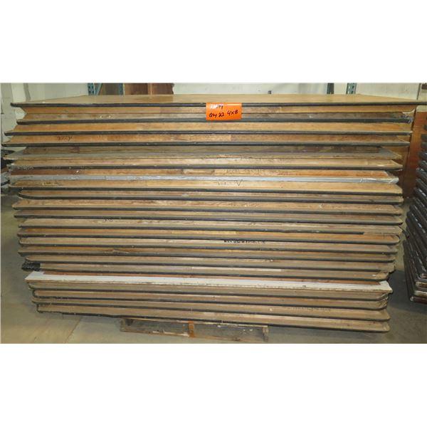 Qty 22 Wood Banquet Tables 8' Length