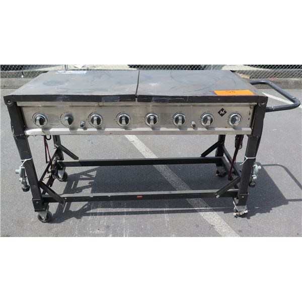"""""""M"""" Rolling Commercial 8 Burner Large Propane Gas BBQ Grill"""