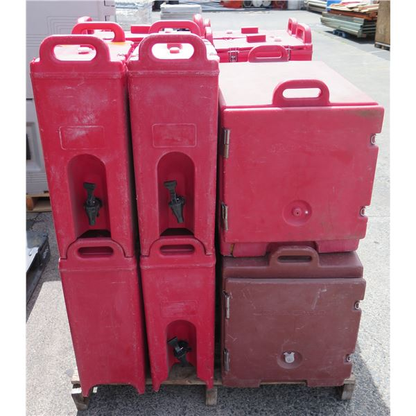 Various Size Cambros Insulated Beverage Dispensers