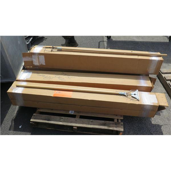 Qty 8 Maid Quik-Change Wet Mop Wooden Handles in Box