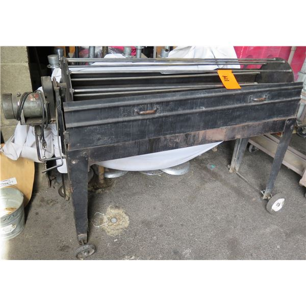 Long Grill Rolling Commercial Rotisserie Rotating BBQ Grill