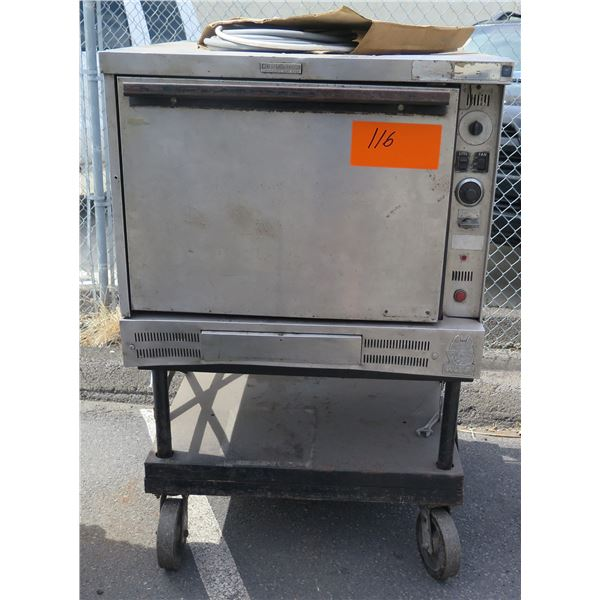Wolf Air Flow Circulating Heat Oven on Rolling Cart