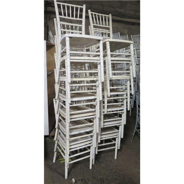 Qty 14 Wood Chivari Chairs