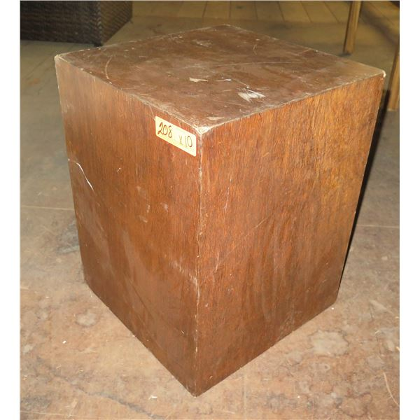"Qty 10 Wood Boxes 15"" Square x 20""H"