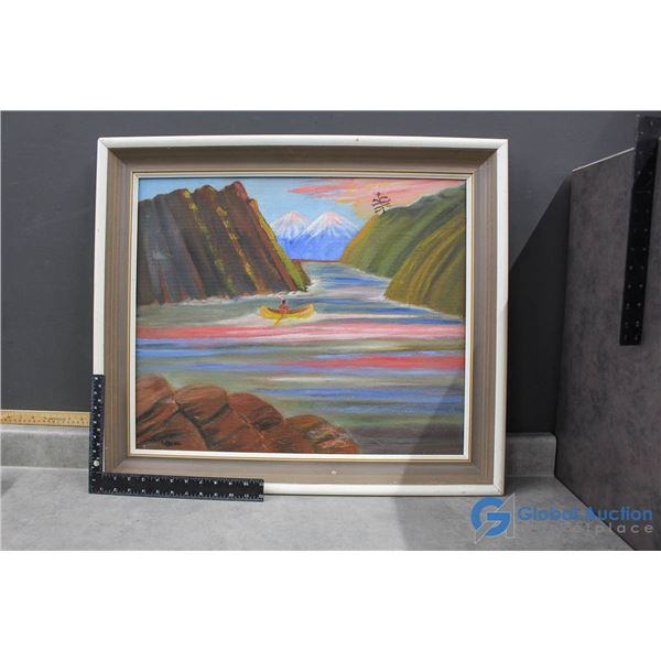 **Framed Signed Painting