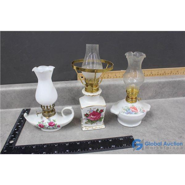 (3) Mini Oil Lamps