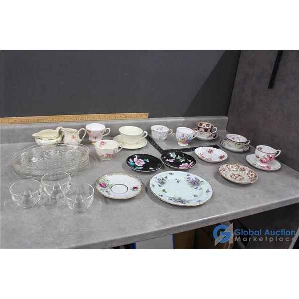 Assorted Tea Cups & Saucers - Royal Albert, Queen Anne