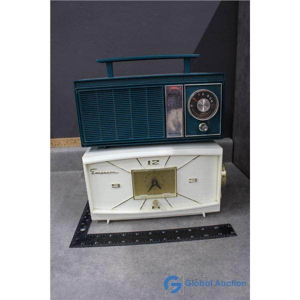 Sony & Emerson Plastic Radio