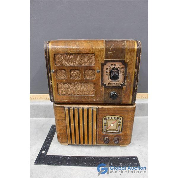 Serenader & Westinghouse Wooden Radios