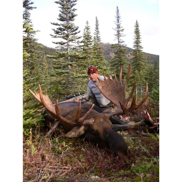 Enjoy a 6 day full mixed bag moose with Skeena Hunts in British Columbia.