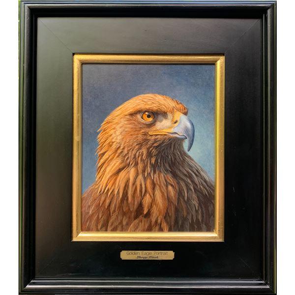 """Original Oil Painting – """"Golden Eagle Portrait"""""""