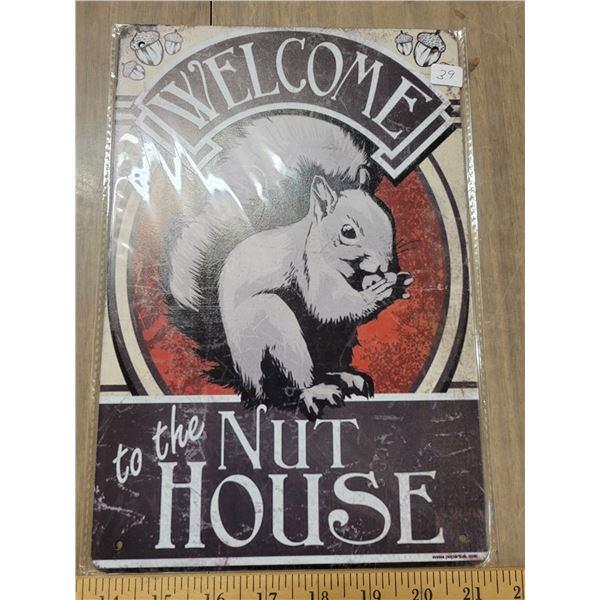 Tin sign - Nut House