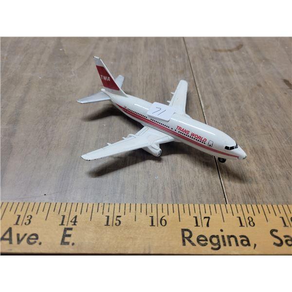 TWA metal airplane vintage