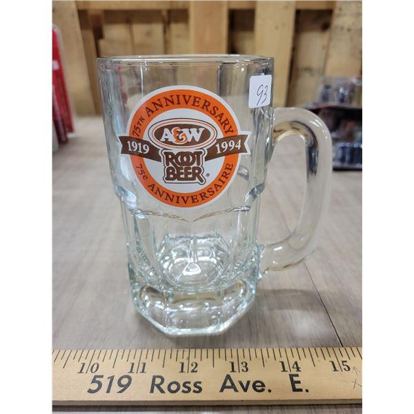 75th anniversary A&W mug