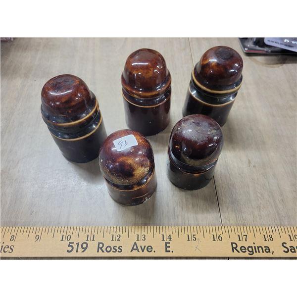 5 Antique ceramic transporters