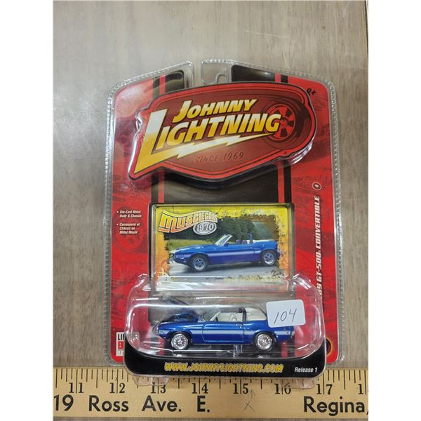 Johnny Lightning '70 Mustang 1 of 5000 convertible LE