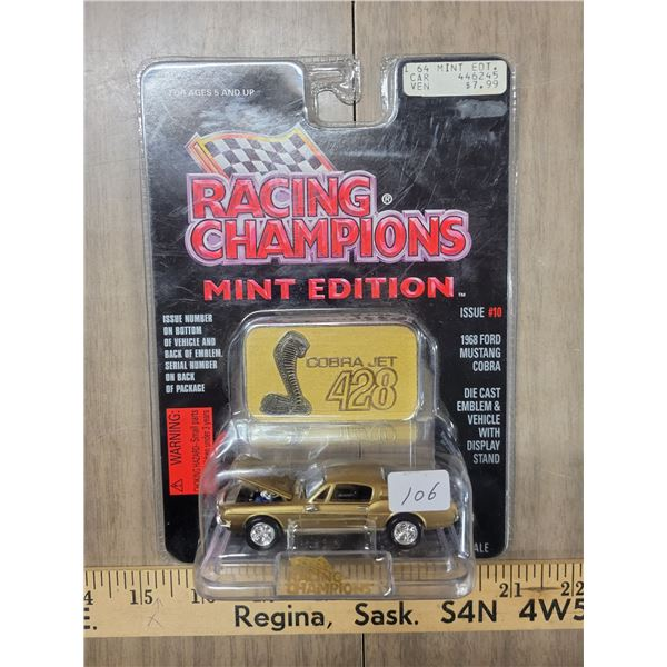 Racing champion '68 Ford Mustang Cobra mint edition