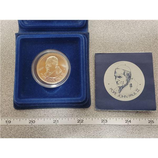 Pope visit Calgary, AB - 1984 Medallion