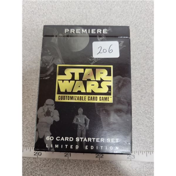 Limited edition Star Wars game cards