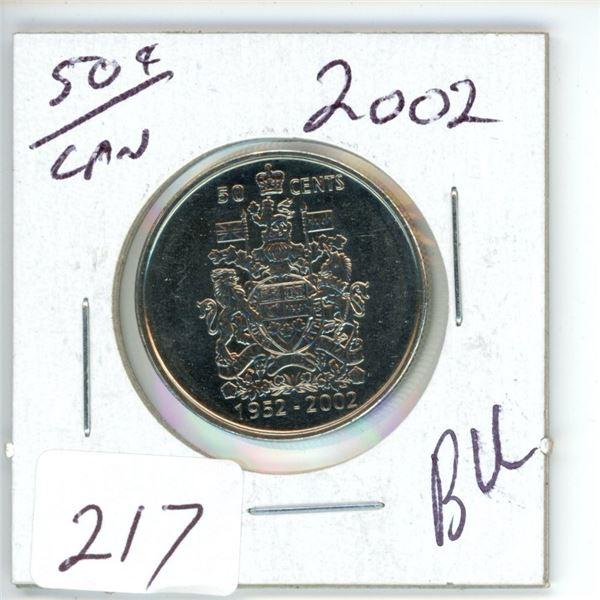 B.U. 2002 50 cent