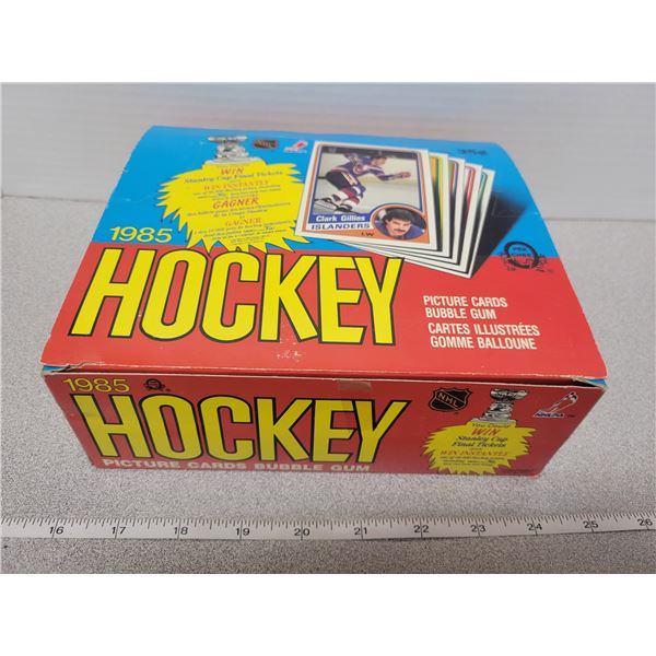 1985 / 1986 Empty O-Pee-Chee hockey card box