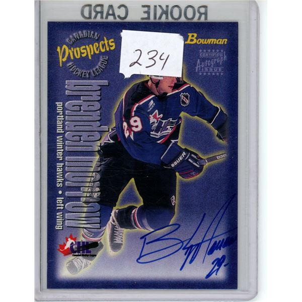 Topps Bowman prospect Pre-rookie autographed Brenden Morrow