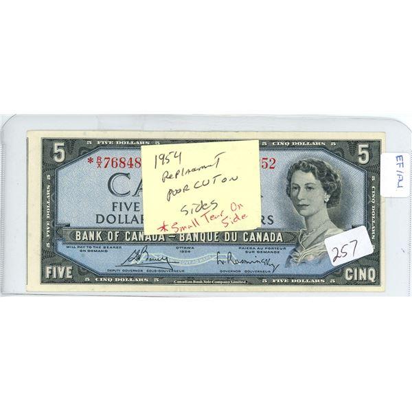 Bouey-Raminsky $5.00 RX7684852 (miscut) EF/AU