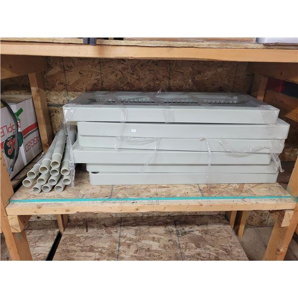 garage/storage room plastic shelf