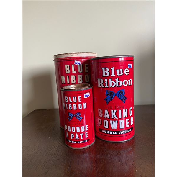 5 vintage tins